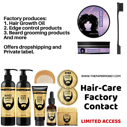 Hair Care products Factory Contact