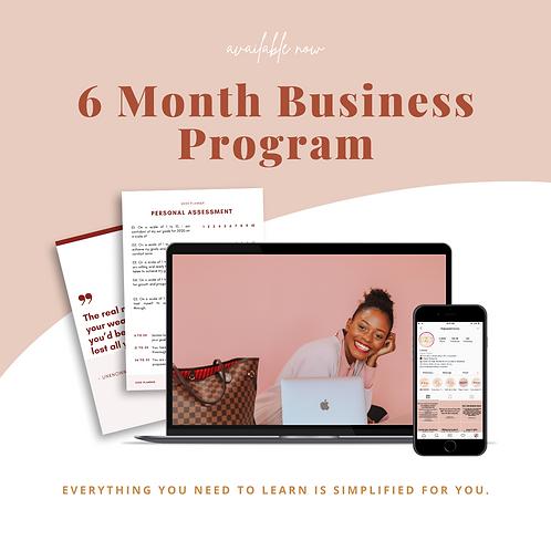 Six Month Program