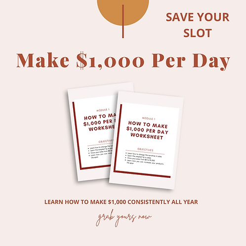 How To Make $1,000 Per Day