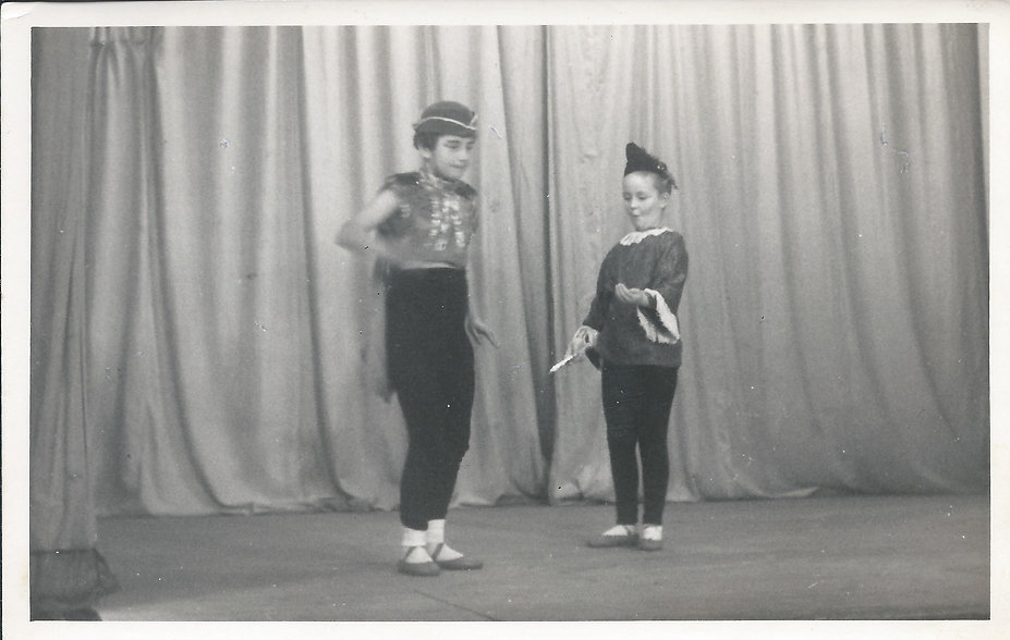 Krystyna on left at local pageant.jpg