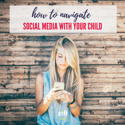 navigate social media with child - squar