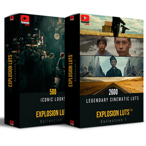 EXPLOSION™ Cinematic LUTs Collection 1&2