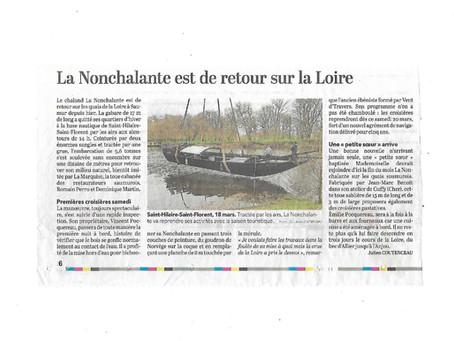 La Nonchalante est de retour sur la Loire