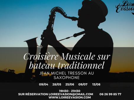 Croisière musicale au saxophone sur Mademoiselle