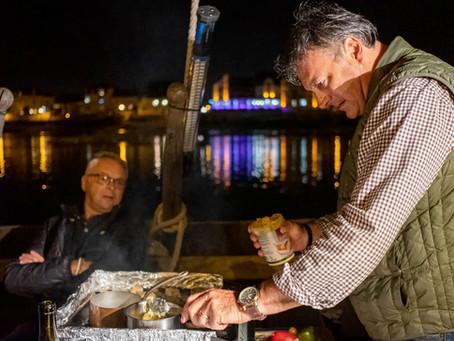 Le Chef Jean François Bodin de l'Aubergade a encore dévoilé son talent à bord de La Nonchalante