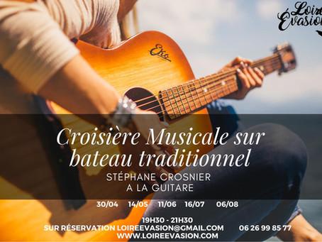 Croisière musicale à la guitare sur Mademoiselle