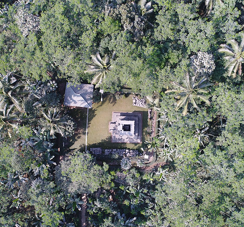 Aerial view of Candi Dukuh