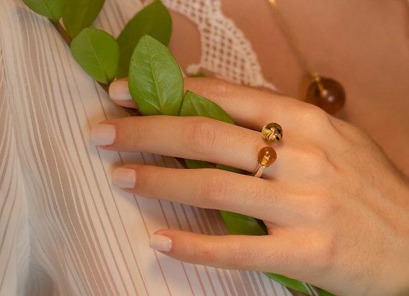Double Teeny Ámbar ring