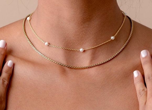 14k Solid Gold Signature Perla necklace