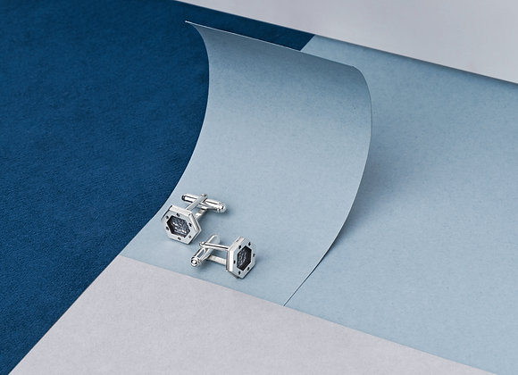 Hexagon Signature Coin cufflink