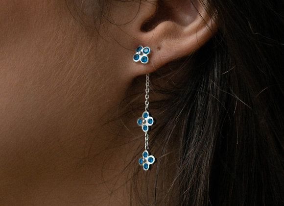 Double Fiore with gemstones earring adapter