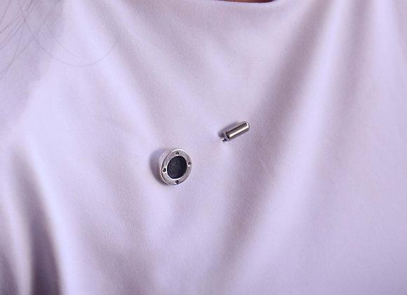 Petite Signature Coin Martelé Inlay pin