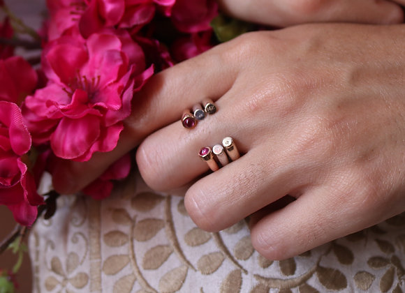 Trinity Signature ring 14k Gold, White Gold & Rose Gold