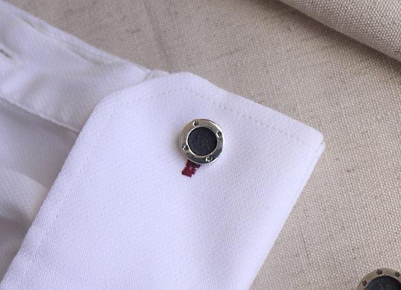 Petite Signature Coin cufflink