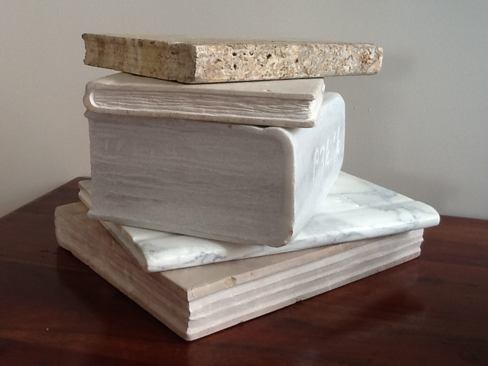 Pile of books/marble / 22x27