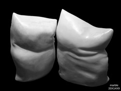 Sand bags/marble / 20x14x9