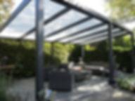 aluminium constructie overzetdak zomer terras