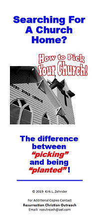 How To Pick a Church Home