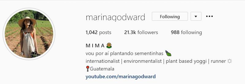 Marina Godward; ambientalista; sustentabilidade; ecofeminismo