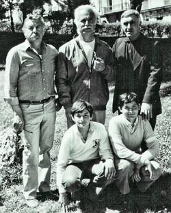 Bruno Granier en famille avec Georges Brassens 10 Avril 1981