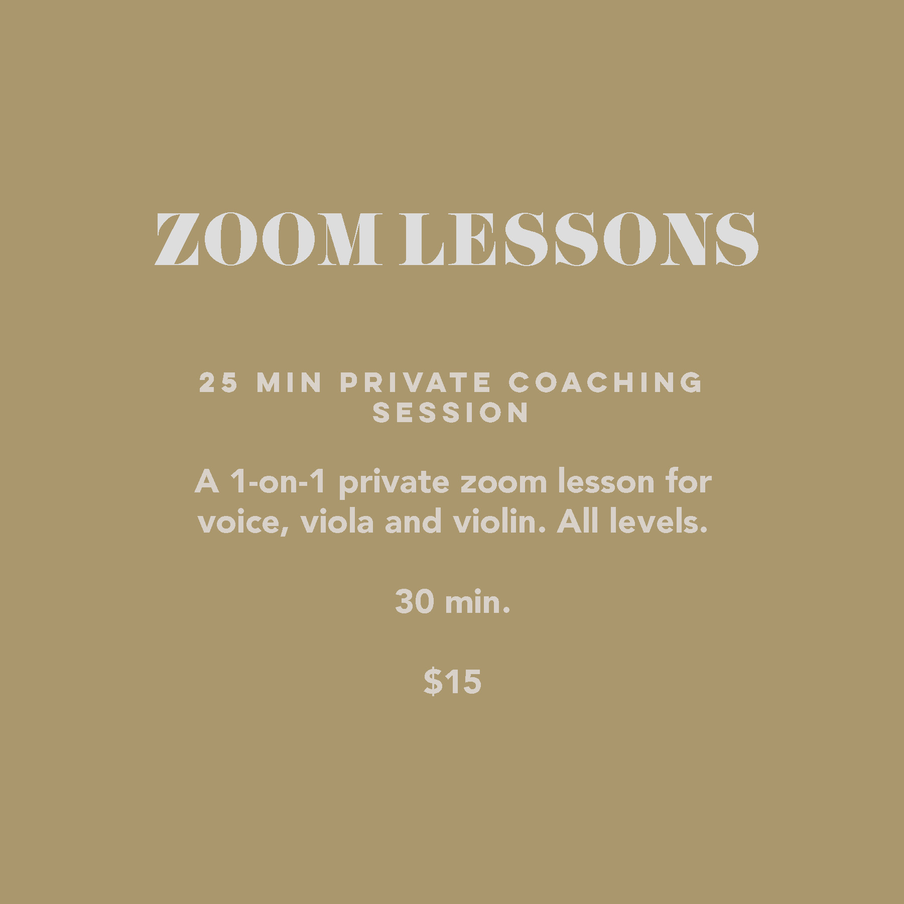 25 min Private Coaching Session