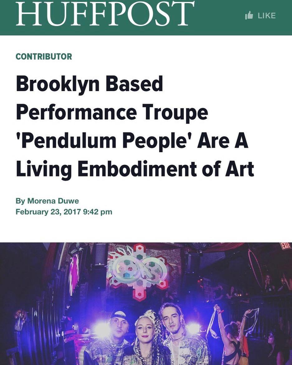 Pendulum People in the Huffington Post