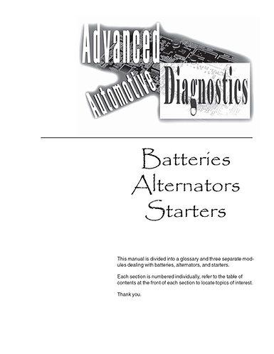 Advanced Automotive Diagnostics Batteries Starter Alternators Digital Book