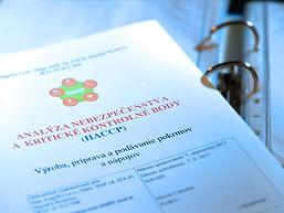 HACCP vzor, Prevádzkový poriadok, Sanitačný poriadok