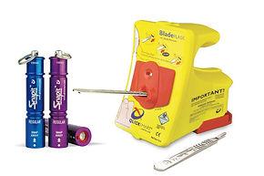 otvárač ampuliek a odstraňovač čepelí skalpelov.