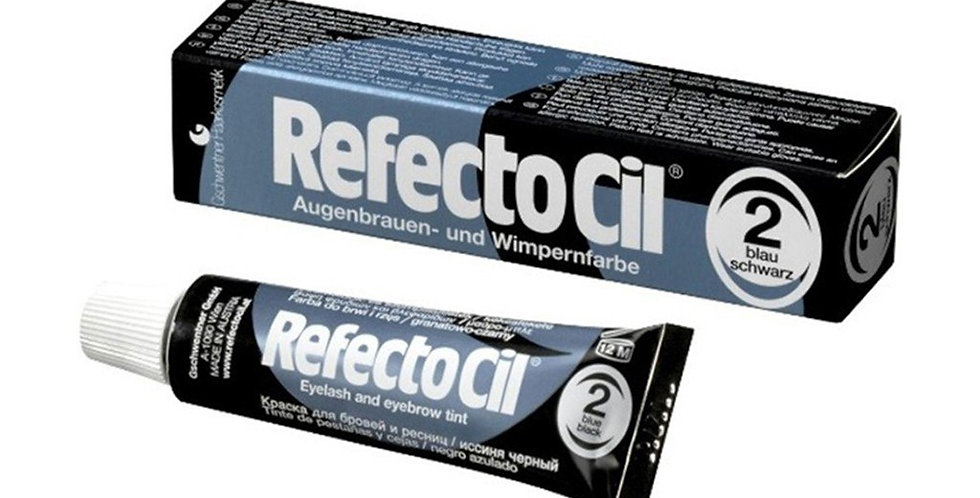 Краска для бровей и ресниц RefectoCil 2 Иссиня-чёрный