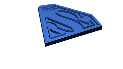 sumperman logo in 3d