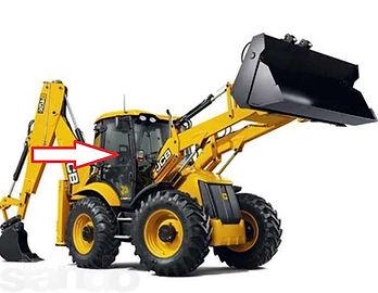 Стекло для экскаватора дверное правое JCB 3CX JCB4CX   827/80144  827/80473  82780144  82780473
