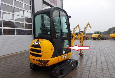 Стекло нижнее правое для мини экскаватора JCB 8018 cts