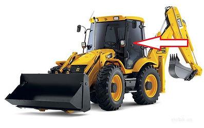 Стекло для экскаватора дверное левое JCB 3CX JCB 4CX  827/80143  827/80472  82780143  82780472