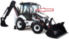 Стекло для экскаватора погрузчик HIDROMEK 102B| Стекло лобовое HIDROMEK 102B