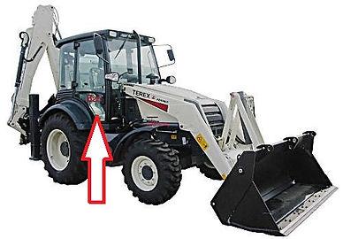 Стекло для экскаватора погрузчика Terex 820 экскаватор Terex 860 экскаватор Terex 970 дверное правое нижнее TEREX6099907M1