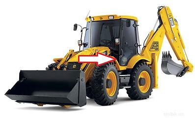 Стекло для экскаватора лобовое нижнее JCB 3CX JCB4CX   827/80141  82780141