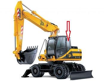 Стекло для экскаватора JCB JS 160 JCB JS180 JCB JS200 JCB JS 220 JCB JS330 кузовное заднее левое   827/80219  82780219