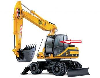 Стекло для экскаватора JCB JS 160 JCB JS180 JCB JS200 JCB JS 220 JCB JS330 дверное  333/J3903  333/E4559  333J3903  333E4559
