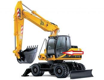 Стекло для экскаватора JCB JS 160 JCB JS180 JCB JS200 JCB JS 220 JCB JS330 дверное   333/J3902  333/E2050  333J3902  333E2050
