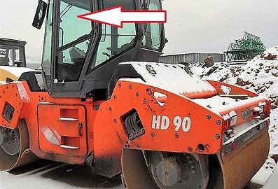 Стекло дверное левое верхнее каток Hamm HD 90 ,Стекло дверное левое верхнее каток Hamm HD 110, Стекло дверное левое верхнее (закаленное)