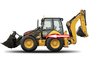 Стекла для экскаватора погрузчика Caterpillar 428 E Стекло для экскаватора погрузчика 432E Стекло для экскаватора погрузчика 434E  Стекло для экскаватора погрузчика 432E Стекло для экскаватора погрузчика 444 E