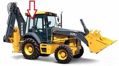 Стекло для экскаватора погрузчик John Deere 325J Стекло кузовное (правое)