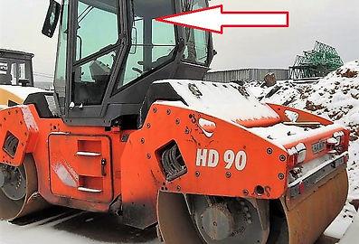 Стекло кузовное левое верхнее каток Hamm HD 90 , Стекло кузовное левое верхнее каток Hamm HD 110, Стекло кузовное левое верхнее (закаленное)