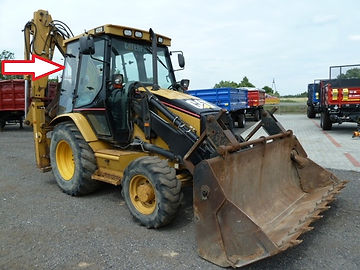 Стекло для экскаватора погрузчика Caterpillar 428 D Стекло для экскаватора погрузчика Caterpillar 432D стекло кузовное заднее правое распашное (закаленное)