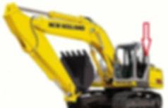 Стекло экскаватор гусеничный New Holland SK 250 (KOBELCO) | стекло кузовноезаднее левое(закалённое) New Holland SK 250(KOBELCO)