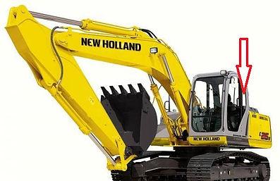 Стекло экскаватор гусеничный New Holland SK 250 (KOBELCO)   стекло кузовноезаднее левое(закалённое) New Holland SK 250(KOBELCO)