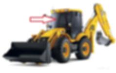 Стекло для экскаватора лобовое JCB 3CX JCB 4CX | 82780139 |827/80139