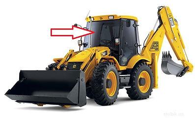 Стекло для экскаватора лобовое JCB 3CX JCB 4CX   82780139  827/80139