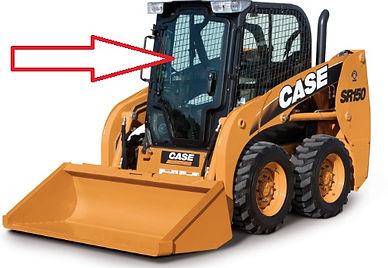 Стекло для мини-погрузчика CASE SV 250V CASE SV 250C CASE SR 130 CASE SR150 CASE SR175 CASE SR185 CASE SR220 CASE SR250 CASE SV 300 CASE 410 Series3 стекло дверь   case sr 150 84344565  